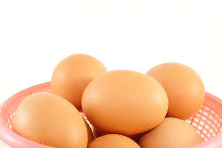 Fresh brown eggs  photo