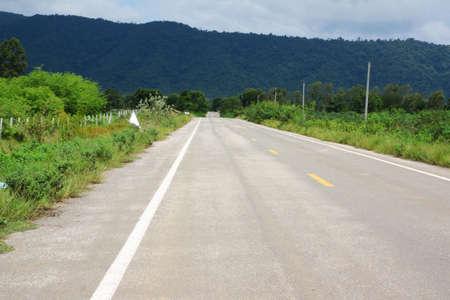 Asphalt road  photo