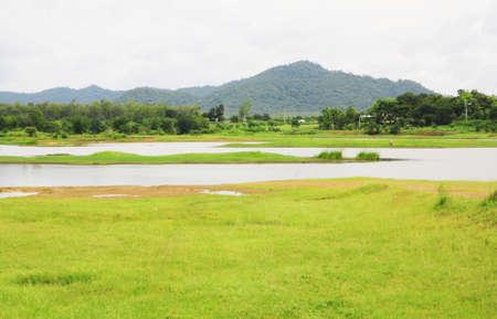 non urban: Non urban landscape. river , mountain Stock Photo