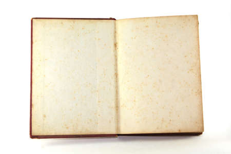 Old book on isolate background Stock Photo