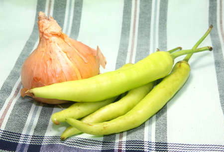Green pepper and Golden onion