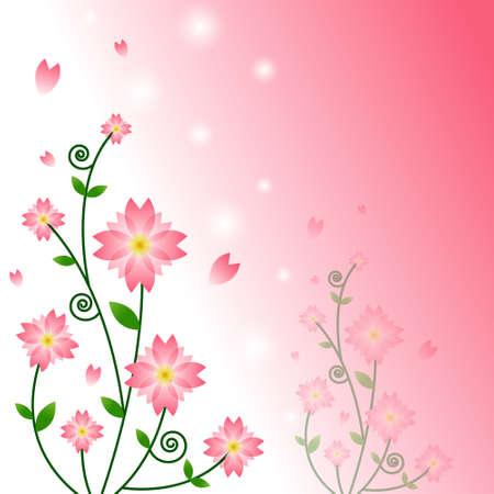 Vector of pink flower background  Stock Vector - 14996166