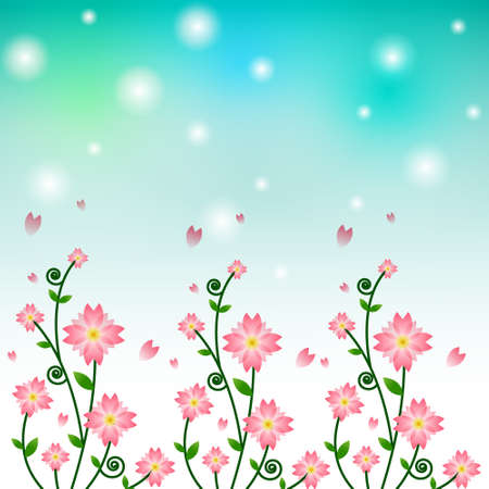 Vector of flower background  Stock Vector - 14996168