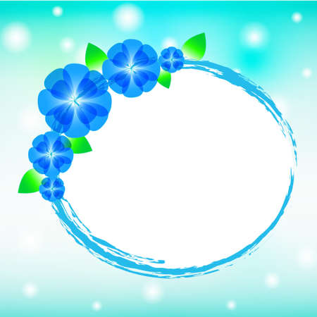 Vector of blue flower background  Stock Vector - 14996169