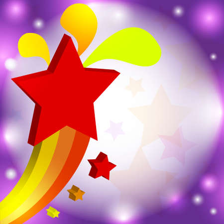 Vector illustration colorful star Stock Vector - 14996170