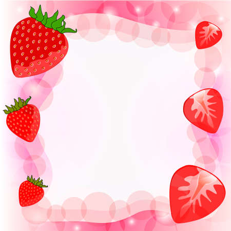Vector red strawberry background  Vector
