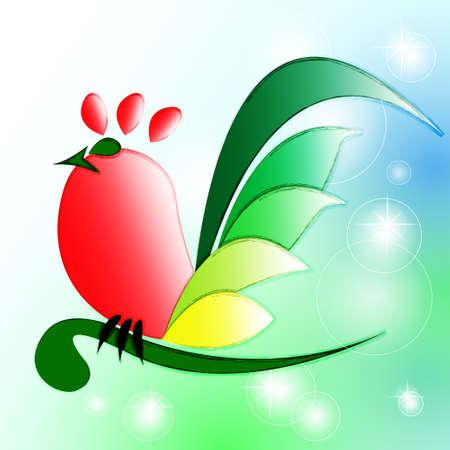 Vector chicken mascot  Illustration