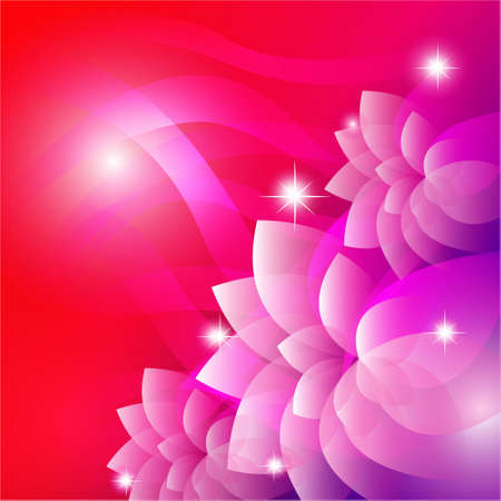 Vector of pink flower background Stock Vector - 14996208