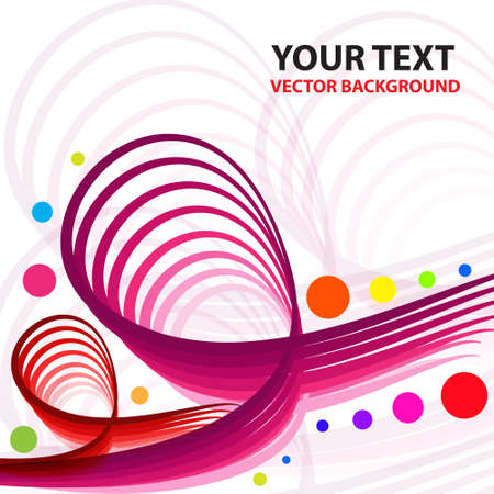 Abstract colorful line vector background  Illustration Stock Vector - 14996178