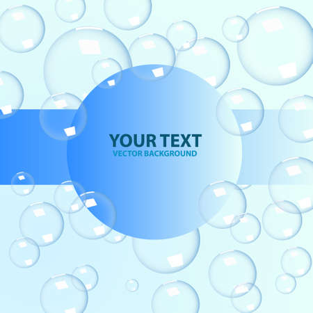 Vector bubbles background Vector