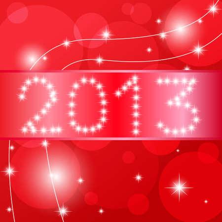 2013 Happy New Year card  Vector illustration Stock Vector - 14996203