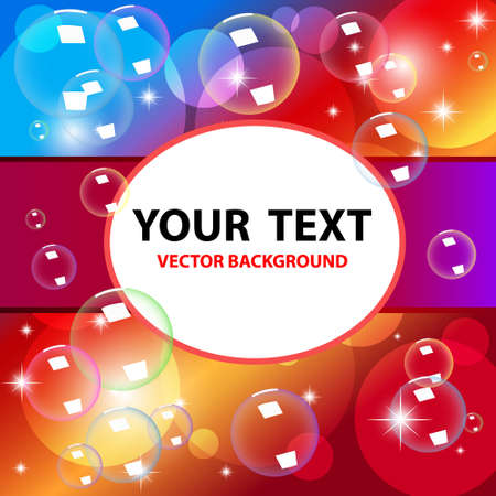 Colorful Vector bubbles background  Vector illustration