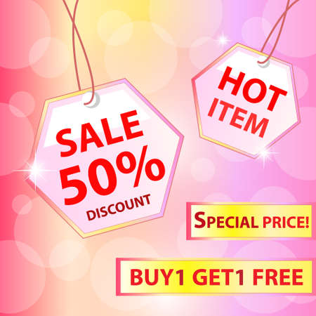 Collection of colorful sale labels, stickers, corners, tags  Discount and hot item  Vector illustration Stock Vector - 14996232