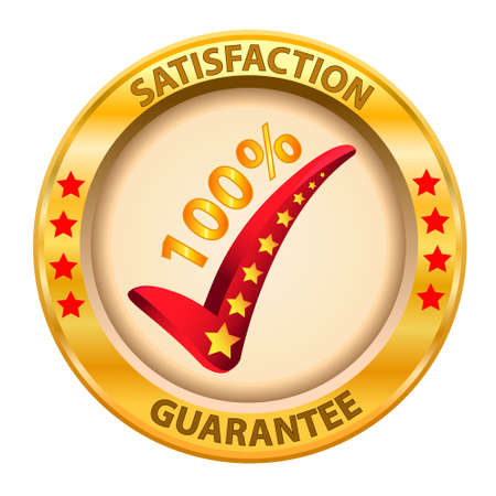 100  Satisfaction Guaranteed logo  Vector illustration  Illustration