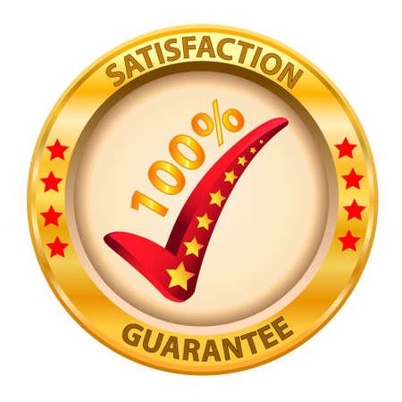 docket: 100  Satisfaction Guaranteed logo  Vector illustration  Illustration