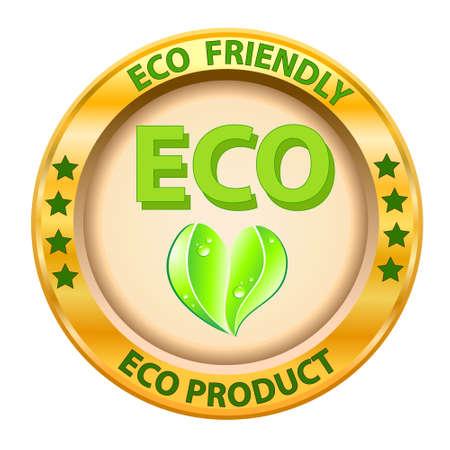 Organic Food, Eco product logo  Vector illustration Stock Vector - 14996215