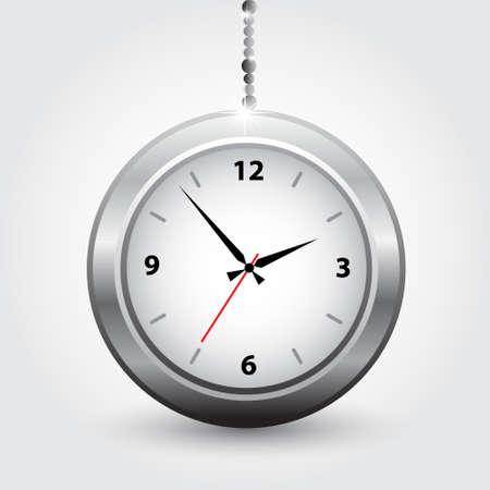 The silver modern clocks  Vector illustration Stock Vector - 14996221