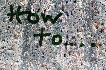 how to: Write on rock wall : How to concept