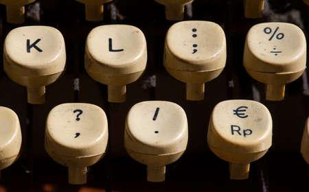 Close up of old typewriter keys. Stock Photo