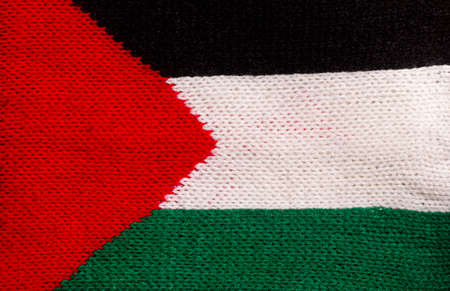 Flag of Palestine texture background made of fabric, for background and wallpaper