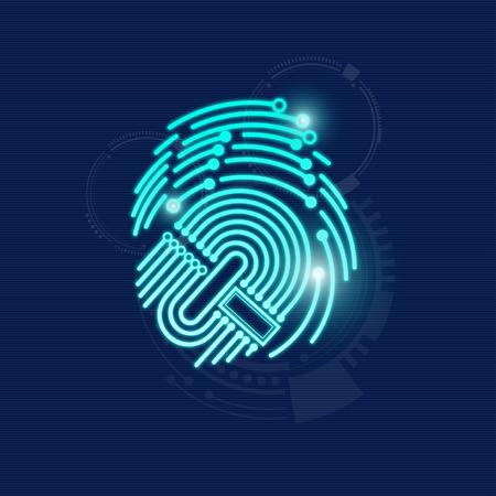 tarjeta electrónica combinar con la huella digital