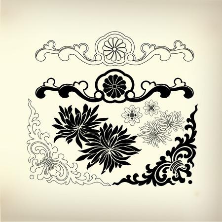 figuration: ornament for decorative design