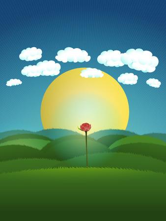 metafoor: metafoor illustratie voor het geven van hoop en kijk in de zonnige kant