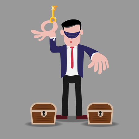 business metaphor: Business metaphor that having risk for doing business Illustration