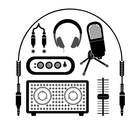 audio equipment: icon of audio equipment Illustration