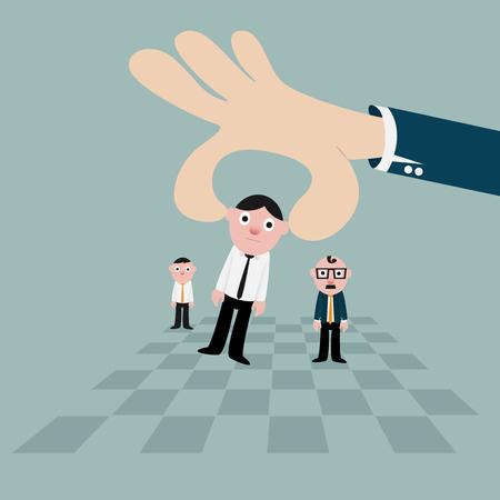 metaphor of business theme Illustration