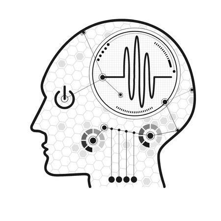 graphic of cognitive process Ilustração