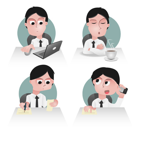 sedentary: character of an office worker