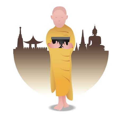 buddist: character of a Buddist mank