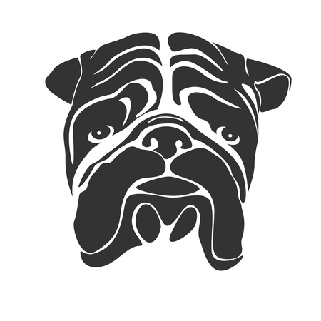graphic: graphic of bulldog face
