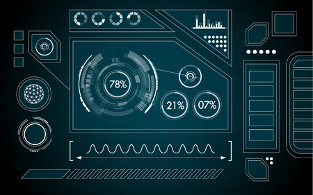 touch screen interface: graphic of interface