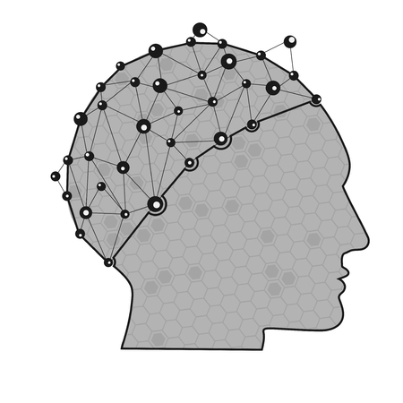 connection connections: graphic of scientific head