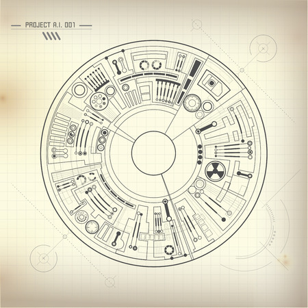 Buleprint of ai invention electronic robot brain diagram 60415661 abstract futuristic background technological eye drawing technological blueprint malvernweather Choice Image