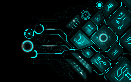 abstract technology background, abstract futuristic background Vector Illustration
