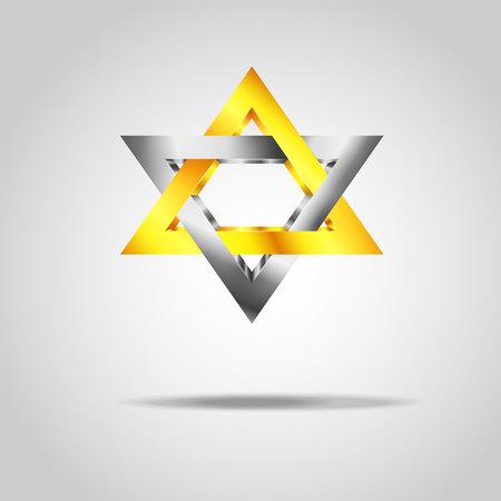 silver: silver golden star symbol Illustration