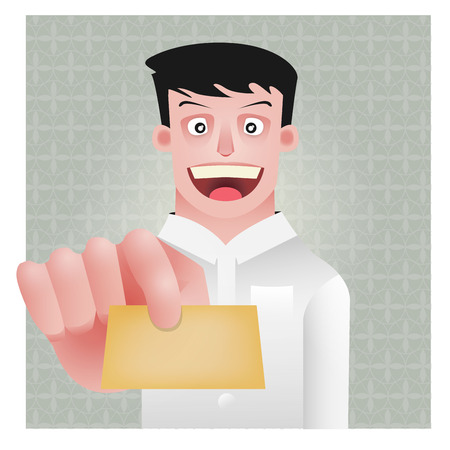 bussiness man: character design, vector cartoon, office person, bussiness man Illustration