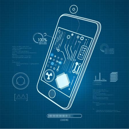 gadget: buleprint of technological gadget