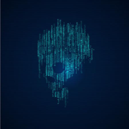virus: computer virus; danger of technology Illustration