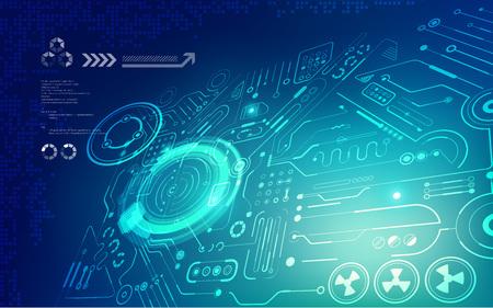 futuristischer Hintergrund; abstrakte Schaltung Hintergrund; blaue digitale Technologie;