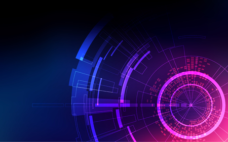 abstract technology backdrop, futuristic digital background, colorful science interface with light design
