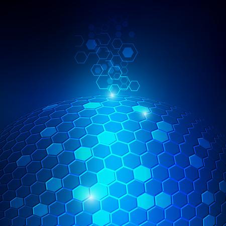 Hexagonal abstract vector background