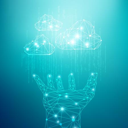 cloud technology: concept of cloud technology, abstract digital technology