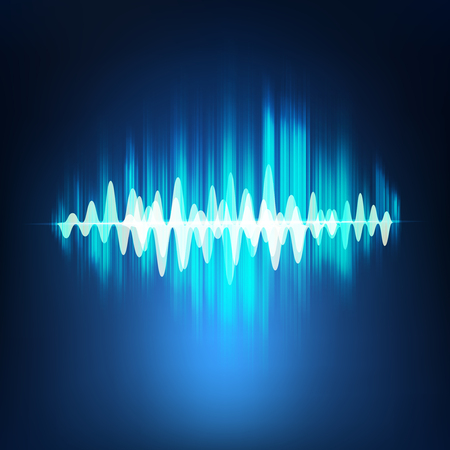 sonic: vector sound wave, abstract pulse background