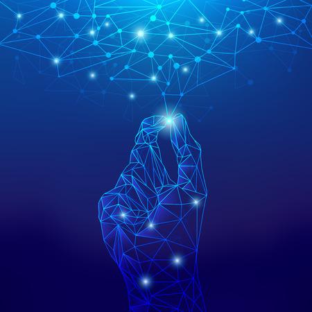 concetto di tecnologia cloud, tecnologia digitale astratta