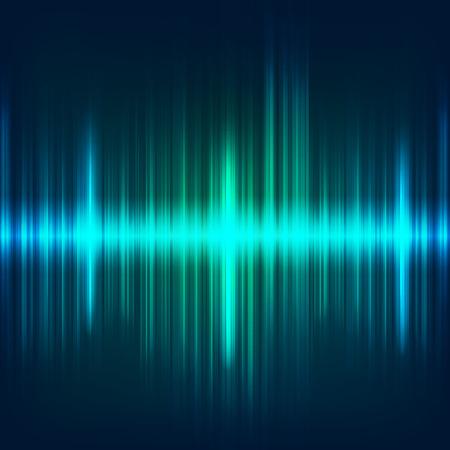abstrakter digitaler blauer Entzerrer, Musterelement der Schallwelle