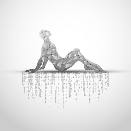Concept of technology advancement, digital body scanning